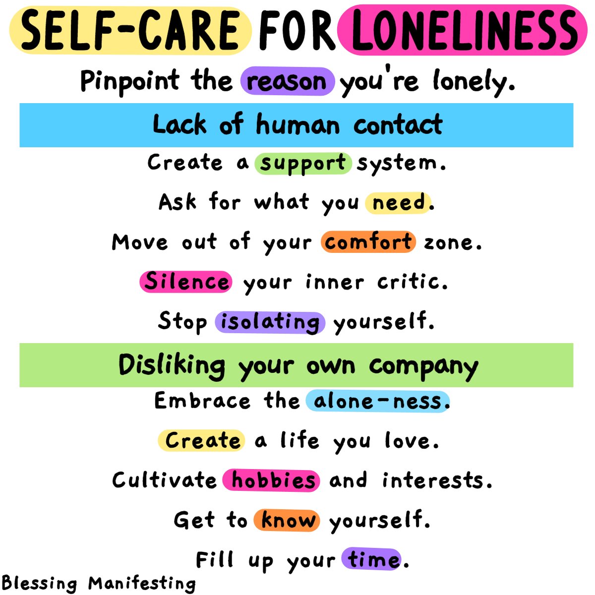 Self-Care for Loneliness graphic