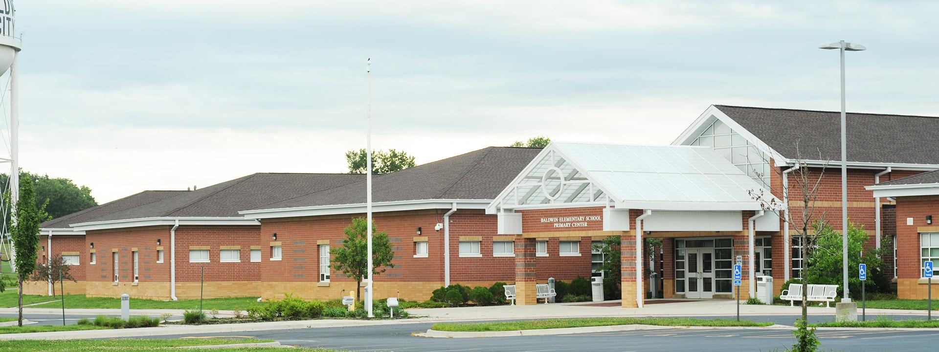 Photo of the Baldwin Elementary School Primary Center building exterior