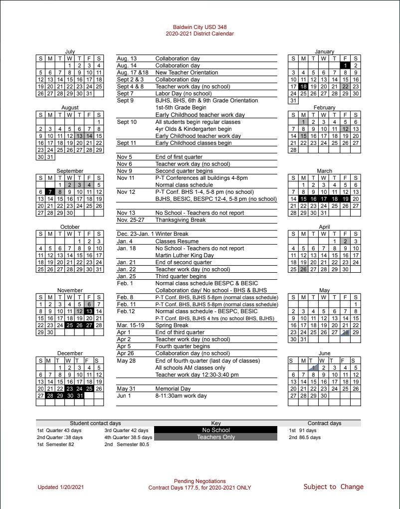 Bhs Calendar 2021-22 Images